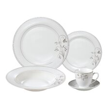 Rosalia 24 Piece Porcelain Dinnerware Set