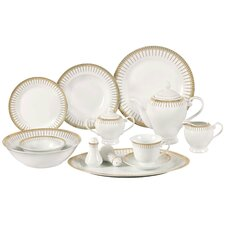 Aria 57 Piece Porcelain Dinnerware Set