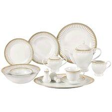 Aria Porcelain  57-Piece Dinnerware Set (Set of 57)