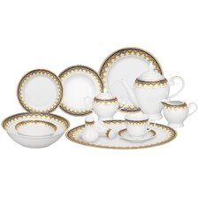 Iris 57 Piece Porcelain Dinnerware Set