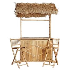 Bamboo 3 Piece Tiki Bar Set