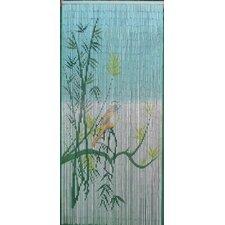 Bird On A Bamboo Tree Scene Single Curtain Panel