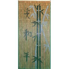 Chinese Characters with Bamboo Scene Single Curtain Panel