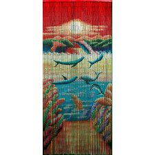 Playful Dolphin Single Curtain Panel