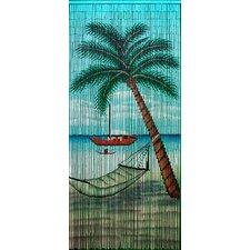 Hammock Beach Scene Single Curtain Panel