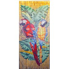Double Parrot Natural Background Single Curtain Panel
