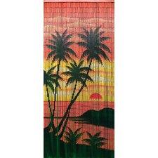 Diamond Head Palm Single Curtain Panel