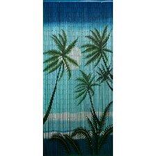 Carribean Palms Single Curtain Panel