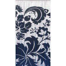 Natural Bamboo Floras Single Curtain Panel