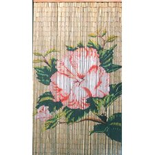 Natrual Bamboo Flower Single Curtain Panel