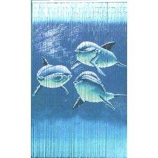 Natural Bamboo Tri Dolphin Single Curtain Panel