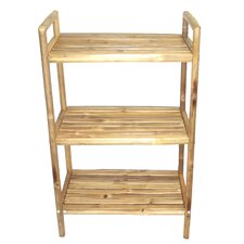 "Natural Bamboo 23.5"" x 38"" Bathroom Shelf"