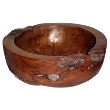 Teak Large Round Decorative Bowl