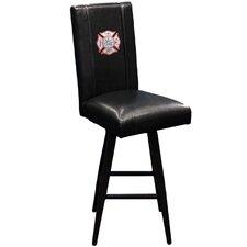 "Maltese Cross 30"" Swivel Bar Stool with Cushion"