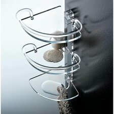 Tiered Clear Shower Corner Tray
