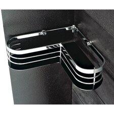 Corner Shower Tray in Chrome