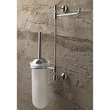 Swivel Wall-Mounted Toilet Brush Holder with Roll Holder