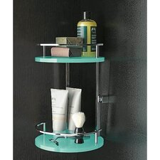 Two-Tier Shower Corner Tray with Railings