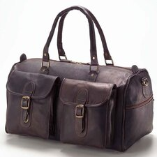 "Colored Vachetta 19"" Leather Travel Duffel"