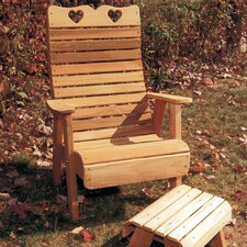 Cedar Furniture and Accessories Country Hearts Patio Adirondack Chair