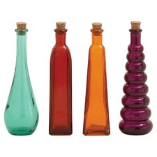 4 Piece Eliza Bottle Décor Set
