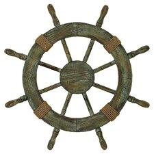 Rope Shipe Wheel Wall Decor