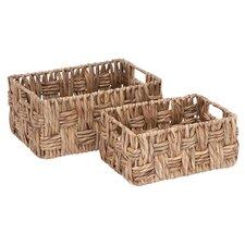 2-Piece Wicker Basket Set