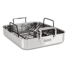 """13"""" Roasting Pan with Non-Stick Rack"""