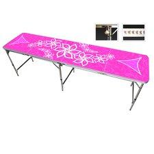 Pink Girls Beer Pong Table in Black Aluminum