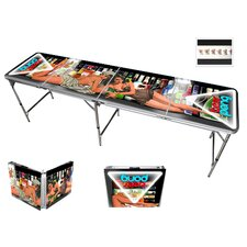 Pin Up Girls Beer Pong Table in Aluminum