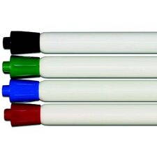 Dry Erase Markers and Microfiber Cloth (Set of 4)