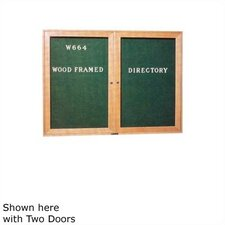 Wood Framed Directory Wall Mounted Letter Board, 3' x 2'