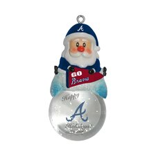 MLB Santa Snow Globe Ornament