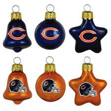 6 Piece NFL Ornament Set