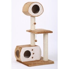 "50"" Sphere Multi-Level Fleece and Sisal Fun House Cat Condo"