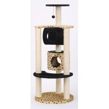 "57"" Journey Multi-Level Fleece and Sisal Activity Center Cat Condo"