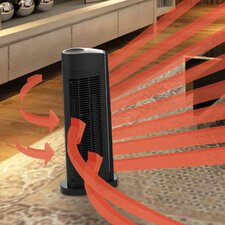 1,500 Watt Portable Electric Fan Tower Heater with Automatic Climate Control