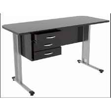 Work Computer Desk with 3 Accessory Drawers