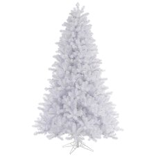 Crystal White 8.5' Pine Artificial Christmas Tree with Stand