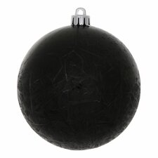 Crackle Ball UV Drilled Christmas Ornament (Set of 12)