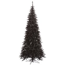 10' Black Slim Fir Christmas Tree