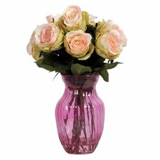 Floral Rose Arrangement in Vase