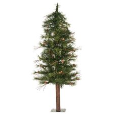 Mixed Country Alpine 4' Green Artificial Christmas Tree with Unlit with Stand
