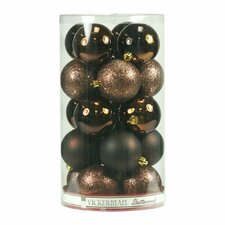 4 Piece Assorted 4 Finish Ball Drilled Ornament Set