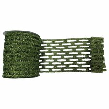 Metallic Rectangle Wired Mesh Ribbon
