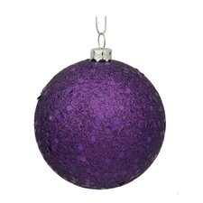 Assorted Ball Drilled Christmas Ornament (Set of 4)