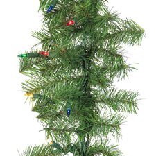 Pine Garland With Colored Lights
