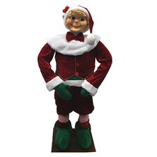 Huge Life Sized Standing Decorative Plush Christmas Elf