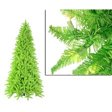 9' Lime Green Ashley Spruce Christmas Tree with Clear and Green Lights