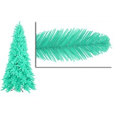 7.5' Seafoam Ashley Spruce Christmas Tree with Clear and Green Lights